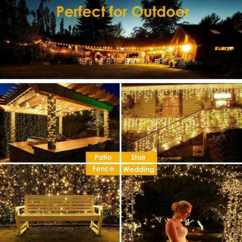 100-1000 LED String Fairy Lights Clear Wires Party Wedding Xmas Tree Home Decor