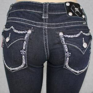 Miss Me Women's Boot Cut Jeans JP5531B2 Dark bluee