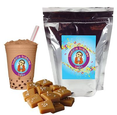 Salted Caramel Boba / Bubble Tea Powder by Buddha Bubbles Boba (1 Pound)