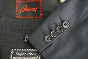 Brioni-Palatino-Blue-Gray-Jacquard-Plaid-Super-150s-Wool-Sport-Coat-Jacket-46R