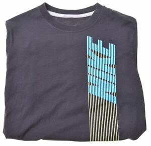 NIKE-Boys-T-Shirt-Top-12-13-Years-Large-Black-Cotton-KF14