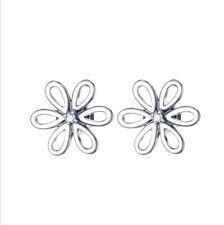 Orecchini A Farfalla A Forma Di Fiore 9 mm in Sterling Silber 925