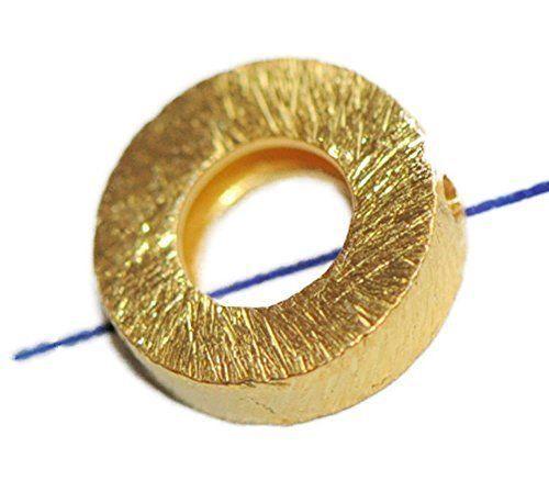 41011-8 mm Designer pièce 925-er Argent Doré longitudinale percés