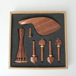 Redwood-Violin-Part-violin-accessories-Size-4-4-Tailpiece-Peg-Chin-Rest-End-Pin
