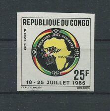 CONGO AFRICAN-GAMES 1965 UNGEZÄHNT SPORT SPORTS IMPERF NON DENTELE RARE h1272