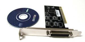 PCI-I-O-Parallel-Port-DB25-25Pin-IEEE-1284-Printer-Card-Controller-Adapter-PC-BK