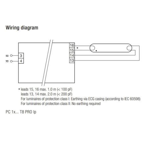 Tridonic PC 1x36 T8 Pro Ballast 22185214 VA de 1x36W T8 Fluorescent Tubes