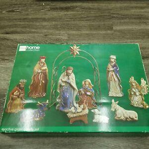 Vintage-JC-Penny-Home-Collection-12-piece-Reactive-Glazed-Nativity-set-NEW