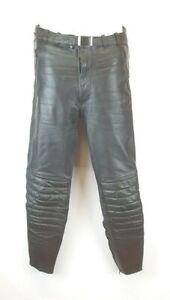 S1) Lederhose Motorradhose Gr.48 schwarz