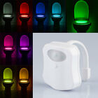 LED 9 Color Night Light Body Motion Sensor Automatic Toilet Seat Bowl Bathroom[