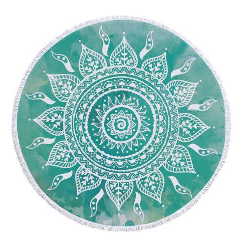 Beach Towel Tassel Toalla Mandala Tapestry Round Bath Towel Bohemian Yoga Mat