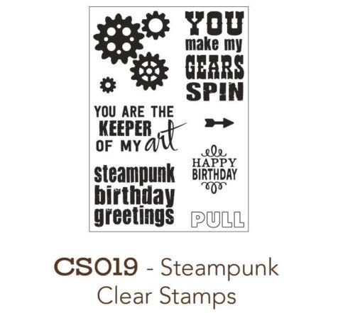 Gears ~CS019 Elizabeth Craft Designs Mini Clear Stamps Set ~ STEAMPUNK Retro