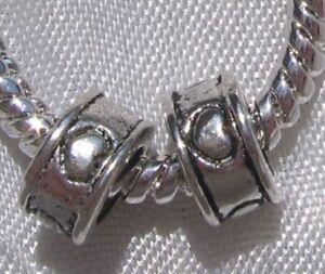 10-CHARMS-ANNEAUX-COEURS-METAL-ARGENTE-8X4MM-pr-chaine-serpent-fils-bracelet-E31