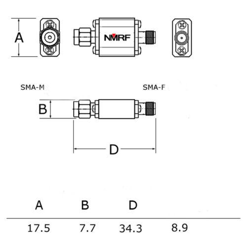 1960MHz UMTS//PCS system dedicated SAW bandpass filter  1dB passband 1930-1990MHz
