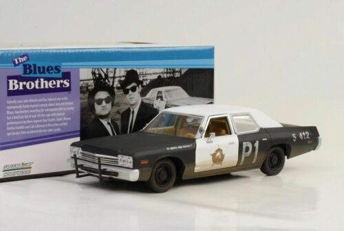 1974 Dodge Mónaco blues brothers blues Mobile Movie 1:24 GreenLight nuevo
