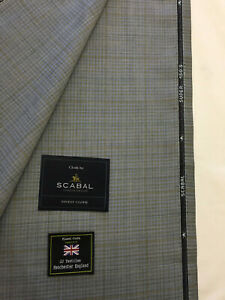 SCABAL-Light-Blue-with-Grey-Check-Super-150s-All-Wool-Suit-Fabric-260g-753051