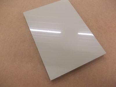 Polypropylene Sheet 210mm x 297mm x 5mm A4 Size Plastic Engineering White//Black