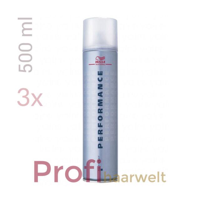 Wella Performance Haarspray 3 x 500 ml