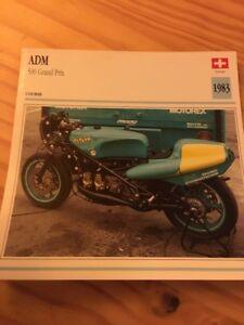 ADM-500-cm3-GRAND-PRIX-1983-Karte-Motorrad-Sammlung-Atlas