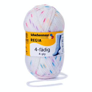 Regia 4-fädig color 50g calcetines lana color 05062 Candy