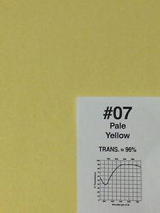 "Rosco R 07 Pale Yellow Lighting Gel Sheet 20"" x 24"""