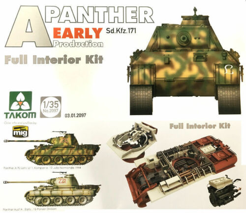 Takom 2097 1//35 Panther A Early Production with Interior
