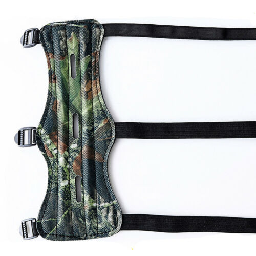Archery Arm Guard Protective Gear PU Leather 3 Strap With 3 Hole for Recurve Bow
