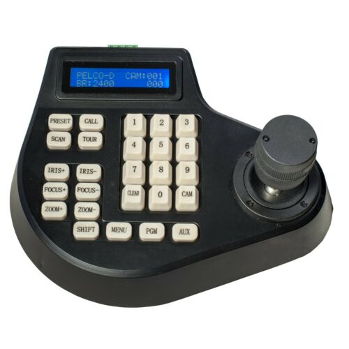 CCTV 3 Axis  LCD Display Keyboard Controller Joystick for PTZ camera