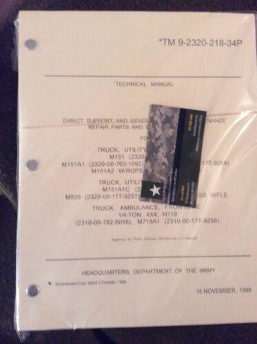 $$$M151 Value Pack TM 9-2320-218-20-1-2 /& TM9-2320-218-34P $$$