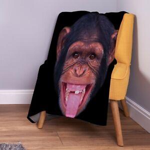 Cheeky-Monkey-Design-Soft-Fleece-Throw-Blanket
