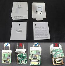 Genuine APPLE 5watt 5W Wall Charger Power Adapter for iPhone 7/6/5/4 (WA USA)