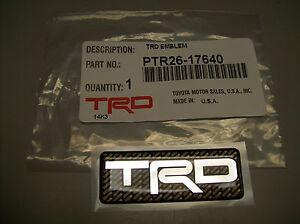 Image is loading TRD-LOGO-EMBLEM-TOYOTA-RACING-DEVELOPMENT-PTR26-17640-
