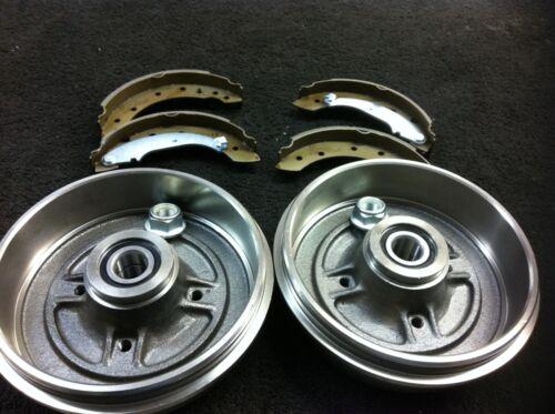 RENAULT CLIO MK2 1.2 16v 1.5DCi REAR BRAKE DRUM BRAKE SHOE WHEEL BEARINGS  203mm
