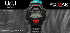 Vintage Watch Q&Q The Light. 9925, Wr 5m. Lap Memory 10. (M 114-001)