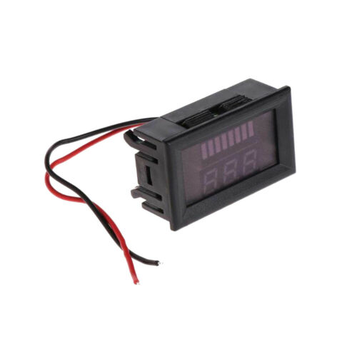 12V-60V Car Boat Motorbike LED Digital Voltmeter Voltage Meter Battery Gauge