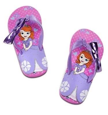 Disney Girl Sandals Flip Flop Princess Sofia Sz 11-12