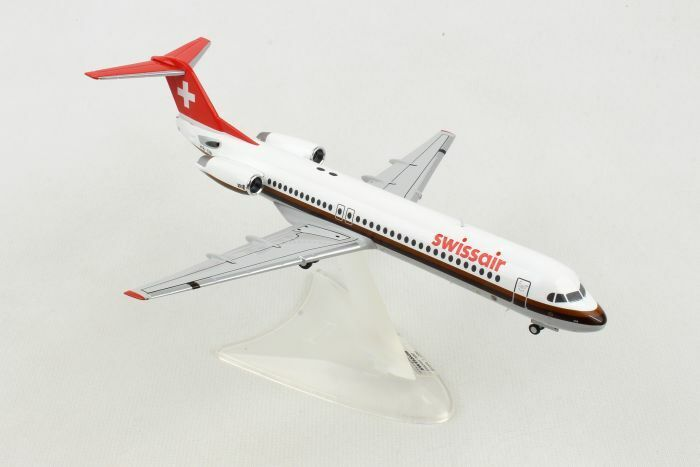 HE559386 Herpa Wings swisair Fokker 100 1 200 Die-Cast Modèle réduit d'avion Hell Boy-Iva