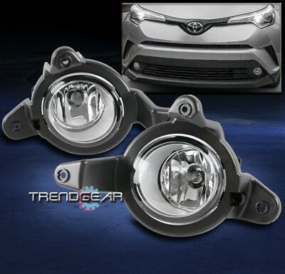 Compatible with Toyota CHR XLE 16-18 with Wiring Harness 2X Front Bumper Warm White Fog Light Lamp