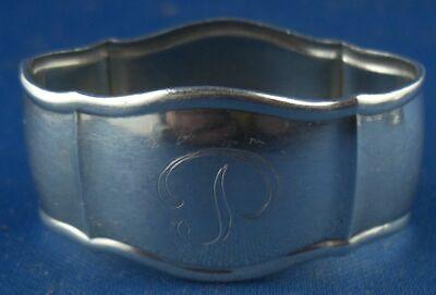 Serviettenring Gebr. Reiner Gravur P 800er Silber Neueste Mode