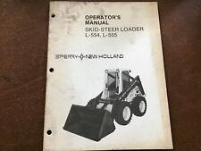 Sperry New Holland L 554 L 555 Skid Steer Loader Operators Manual Original