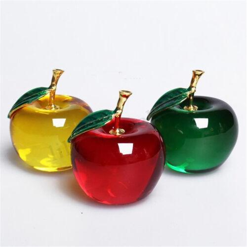 3D Kristall Apfel Dekorglas Glasfigur Dekoration Briefbeschwerer Geschenk Dekor