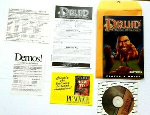 Druid-Daemons-of-the-Mind-1995-PC-Game-Disc-Manual-amp-extras-demons-excellent