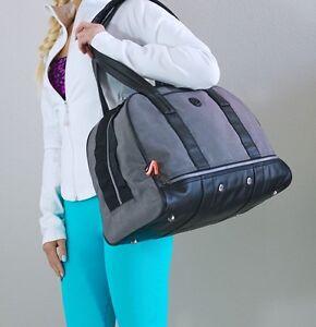 f791e79e7d8 EUC Lululemon Om For All Yoga Gym Bag Gray Denim Black | eBay