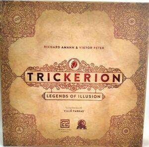 Trickerion Legends of Illusion en inglés Juego de Mesa con expansión
