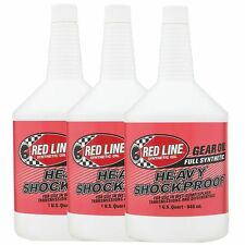 3 x Red Line Heavy Shockproof Gearbox / Gear / Transaxle Oil 3 US Quarts