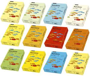Papyrus-Rainbow-Kopierpapier-DIN-A4-80g-m-farbig-Pastell-Intensiv-Druckerpapier