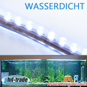 120cm 120 led weiss leiste streifen lichtleiste wasserdicht aquarium mondlicht ebay. Black Bedroom Furniture Sets. Home Design Ideas