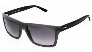 832d8f4b230 GUCCI Square Men Sunglasses GG 1013 S Shiny Black Grey Brown ...