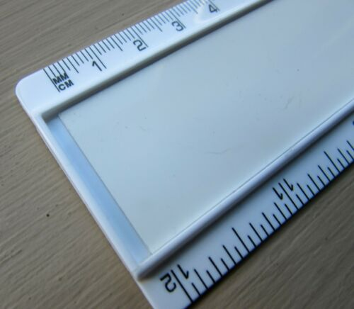 """PERSONALISED ANY NAME BLUE PRINT 12/"""" PLASTIC RULER SCHOOL PRIMARY SECONDARY"""