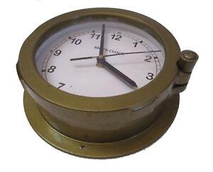 LARGE - SHIP'S  Clock – Marine WALL Clock – MARITIME / BOAT / NAUTICAL(188)